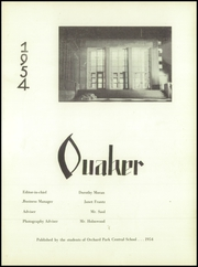 Page 5, 1954 Edition, Orchard Park High School - Quaker Yearbook (Orchard Park, NY) online yearbook collection