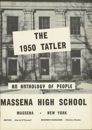 Page 5, 1950 Edition, Massena Central High School - Tatler Yearbook (Massena, NY) online yearbook collection