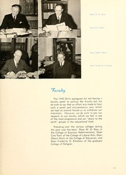 Page 15, 1940 Edition, Butler University - Carillon / Drift Yearbook (Indianapolis, IN) online yearbook collection