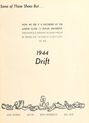 Page 7, 1944 Edition, Butler University - Carillon / Drift Yearbook (Indianapolis, IN) online yearbook collection