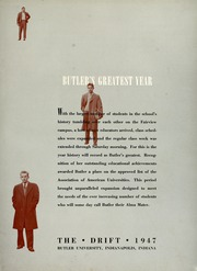 Page 7, 1947 Edition, Butler University - Carillon / Drift Yearbook (Indianapolis, IN) online yearbook collection