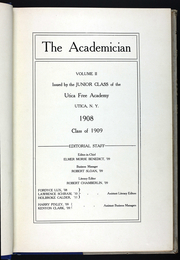 Page 7, 1909 Edition, Utica Free Academy - Academician Yearbook (Utica, NY) online yearbook collection