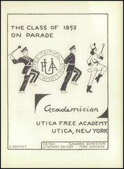 Page 5, 1953 Edition, Utica Free Academy - Academician Yearbook (Utica, NY) online yearbook collection