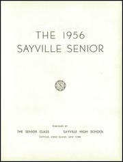 Page 7, 1956 Edition, Sayville High School - Senior Yearbook (Sayville, NY) online yearbook collection