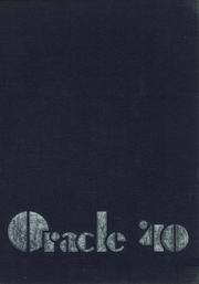 Page 1, 1940 Edition, Gloversville High School - Oracle Yearbook (Gloversville, NY) online yearbook collection