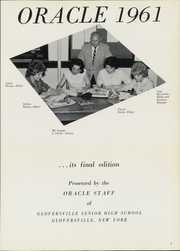 Page 5, 1961 Edition, Gloversville High School - Oracle Yearbook (Gloversville, NY) online yearbook collection