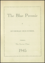 Page 7, 1945 Edition, Riverhead High School - Blue Peconic Yearbook (Riverhead, NY) online yearbook collection