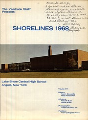 Page 5, 1968 Edition, Lake Shore Central High School - Shorelines Yearbook (Angola, NY) online yearbook collection