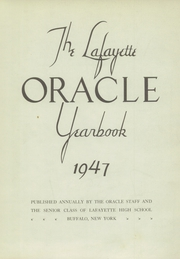 Page 7, 1947 Edition, Lafayette High School - Oracle Yearbook (Buffalo, NY) online yearbook collection
