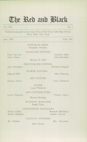 Page 7, 1925 Edition, Glens Falls High School - Red and Black Yearbook (Glens Falls, NY) online yearbook collection