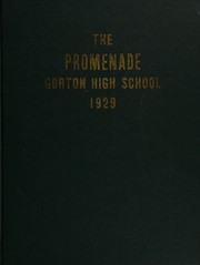 1929 Edition, Charles E Gorton High School - Promenade Yearbook (Yonkers, NY)