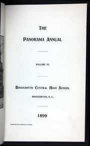 Page 7, 1899 Edition, Binghamton Central High School - Panorama Yearbook (Binghamton, NY) online yearbook collection