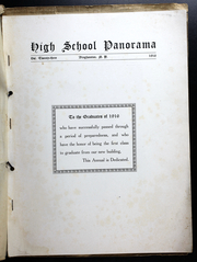 Page 3, 1916 Edition, Binghamton Central High School - Panorama Yearbook (Binghamton, NY) online yearbook collection