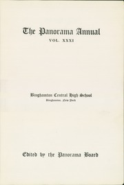 Page 7, 1924 Edition, Binghamton Central High School - Panorama Yearbook (Binghamton, NY) online yearbook collection