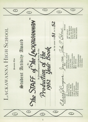 Page 9, 1952 Edition, Lackawanna High School - Lackawannan Yearbook (Lackawanna, NY) online yearbook collection