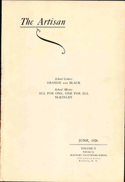 Page 7, 1926 Edition, McKinley High School - President Yearbook (Buffalo, NY) online yearbook collection