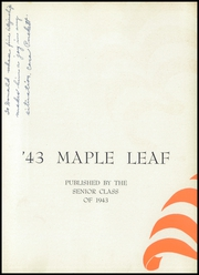 Page 7, 1943 Edition, Hornell High School - Maple Leaf Yearbook (Hornell, NY) online yearbook collection