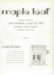 Page 7, 1951 Edition, Hornell High School - Maple Leaf Yearbook (Hornell, NY) online yearbook collection