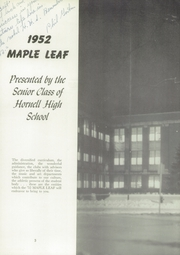 Page 7, 1952 Edition, Hornell High School - Maple Leaf Yearbook (Hornell, NY) online yearbook collection