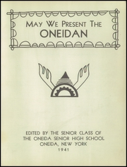 Page 3, 1941 Edition, Oneida High School - Oneidan Yearbook (Oneida, NY) online yearbook collection