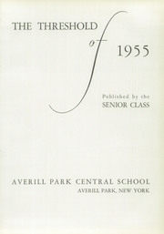 Page 5, 1955 Edition, Averill Park High School - Threshold Yearbook (Averill Park, NY) online yearbook collection