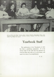 Page 8, 1955 Edition, Averill Park High School - Threshold Yearbook (Averill Park, NY) online yearbook collection