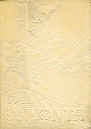 Page 1, 1941 Edition, Oneonta High School - Oneonta Yearbook (Oneonta, NY) online yearbook collection