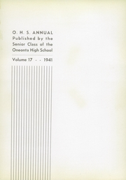 Page 5, 1941 Edition, Oneonta High School - Oneonta Yearbook (Oneonta, NY) online yearbook collection