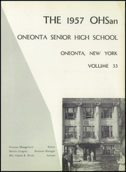 Page 5, 1957 Edition, Oneonta High School - Oneonta Yearbook (Oneonta, NY) online yearbook collection
