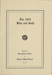 Page 3, 1928 Edition, Hudson High School - Blue and Gold Yearbook (Hudson, NY) online yearbook collection