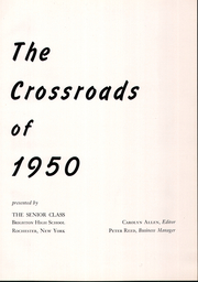 Page 5, 1950 Edition, Brighton High School - Crossroads Yearbook (Rochester, NY) online yearbook collection