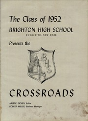 Page 5, 1952 Edition, Brighton High School - Crossroads Yearbook (Rochester, NY) online yearbook collection
