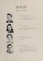 Page 11, 1939 Edition, Rye High School - Stage Coach Yearbook (Rye, NY) online yearbook collection