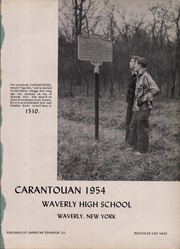 Page 5, 1954 Edition, Waverly High School - Carantouan Yearbook (Waverly, NY) online yearbook collection