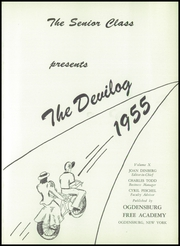 Page 5, 1955 Edition, Ogdensburg Free Academy - Devilog Yearbook (Ogdensburg, NY) online yearbook collection