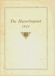 Page 1, 1924 Edition, Haverling Central High School - Haverlinguist Yearbook (Bath, NY) online yearbook collection