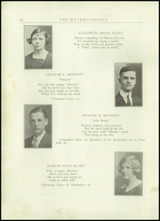 Page 12, 1924 Edition, Haverling Central High School - Haverlinguist Yearbook (Bath, NY) online yearbook collection