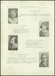 Page 14, 1924 Edition, Haverling Central High School - Haverlinguist Yearbook (Bath, NY) online yearbook collection