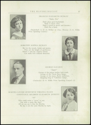 Page 15, 1924 Edition, Haverling Central High School - Haverlinguist Yearbook (Bath, NY) online yearbook collection