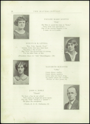Page 16, 1924 Edition, Haverling Central High School - Haverlinguist Yearbook (Bath, NY) online yearbook collection