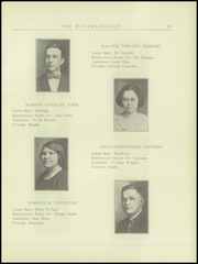 Page 17, 1925 Edition, Haverling Central High School - Haverlinguist Yearbook (Bath, NY) online yearbook collection