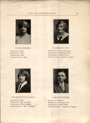 Page 17, 1926 Edition, Haverling Central High School - Haverlinguist Yearbook (Bath, NY) online yearbook collection