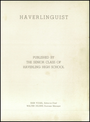 Page 5, 1943 Edition, Haverling Central High School - Haverlinguist Yearbook (Bath, NY) online yearbook collection