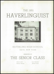 Page 5, 1951 Edition, Haverling Central High School - Haverlinguist Yearbook (Bath, NY) online yearbook collection