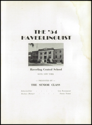 Page 5, 1954 Edition, Haverling Central High School - Haverlinguist Yearbook (Bath, NY) online yearbook collection