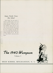 Page 7, 1940 Edition, Binghamton North High School - Wampum Yearbook (Binghamton, NY) online yearbook collection