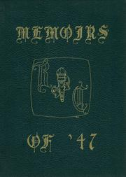 Page 1, 1947 Edition, Ravena Coeymans Selkirk High School - Memoirs Yearbook (Ravena, NY) online yearbook collection
