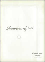 Page 7, 1947 Edition, Ravena Coeymans Selkirk High School - Memoirs Yearbook (Ravena, NY) online yearbook collection