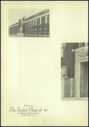 Page 6, 1940 Edition, Highland High School - Echo Yearbook (Highland, NY) online yearbook collection