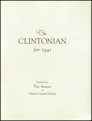 Page 5, 1941 Edition, Clinton Central High School - Clintonian Yearbook (Clinton, NY) online yearbook collection